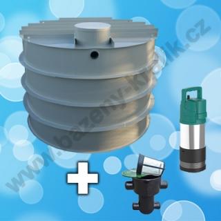 Vystrojená retenční nádrž s čerpadlem a filtrací a vnitřním rovzodem