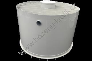 Dvouplášťová nádrž s kompozitním vyztužením 3m3